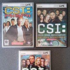 Videojuegos y Consolas: LOTE JUEGOS CSI. Lote 85197748