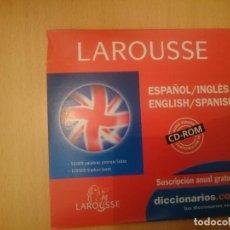 Videojuegos y Consolas: CDROM LAROUSSE ESPAÑOL INGLES ENGLISH SPANISH -COMPATIBLE CON WINDOWS XP --REFESCDLADEARES4. Lote 85826744