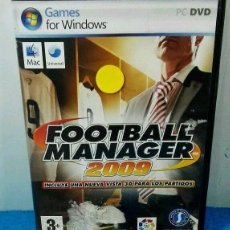 Videojuegos y Consolas: GAME PC FOOTBALL MANAGER 2009 SPANISH . Lote 86721172