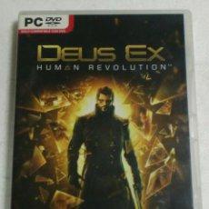 Videojuegos y Consolas: SQUARC CNIX - EIDOS - PC/DVD ROM - DEUX EX HUMAN REVOLUTION. Lote 87317492
