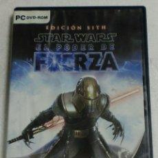 Videojuegos y Consolas: LUCASARTS - PC/DVD ROM - STAR WARS EL PODER DE LA FUERZA EDICION SITH. Lote 87320400