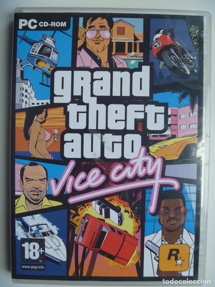GRAND THEFT AUTO GTA VICE CITY PARA PC ORDENADOR DISCO CD DVD VERSIÓN ESPAÑOLA (Juguetes - Videojuegos y Consolas - PC)