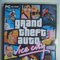 Videojuegos y Consolas: GRAND THEFT AUTO GTA VICE CITY PARA PC ORDENADOR DISCO CD DVD VERSIÓN ESPAÑOLA . Lote 87567872