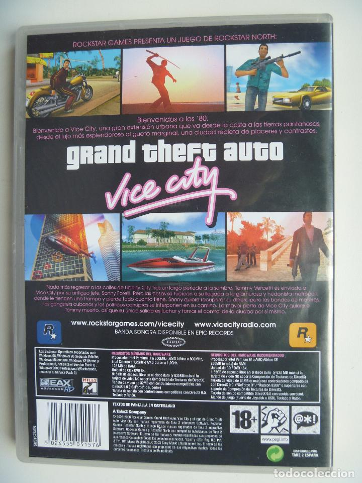Videojuegos y Consolas: Grand Theft Auto GTA Vice City para PC ordenador disco CD DVD versión española - Foto 2 - 87567872