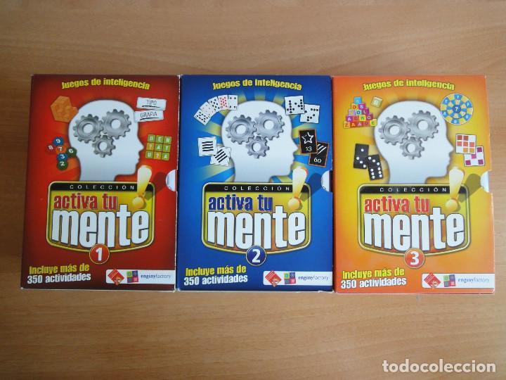 Videojuegos y Consolas: Colección Activa tu mente. 12 CDs. Completa. Algunos precintados - Foto 2 - 90127552