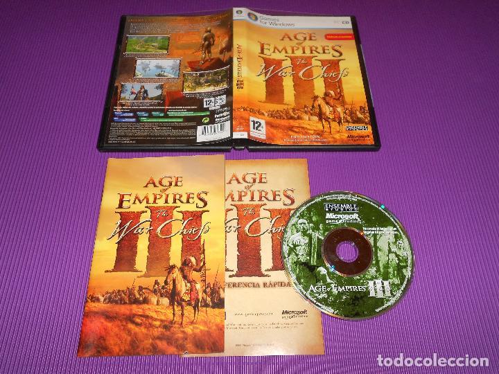AGE OF EMPIRES III ( THE WAR CHIEFS ) - PC CD - MICROSOFT - TOTALMENTE EN  CASTELLANO