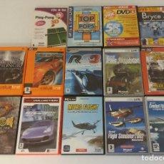 Videojuegos y Consolas: LOTE DE 14 JUEGOS PARA PC ORDENADOR SIMULADORES AVIONES TRENES COCHES MEDAL HONOR EXCELENTE ESTADO. Lote 91013275