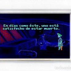 Videojogos e Consolas: IMAN NEVERA - VIDEOJUEGOS MONKEY ISLAND EN DIAS COMO ESTE, UNO ESTA SATISFECHO DE ESTAR MUERTO. Lote 173472680
