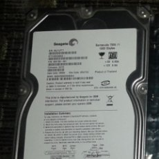 Videojuegos y Consolas: DISCO DURO SEAGATE BARRACUDA 7200.11 1000 GBYTES. Lote 91286420