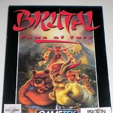 Videojuegos y Consolas: BRUTAL - PAWS OF FURY [GAMETEK] 1995 PROEIN SOFT LINE [JUEGOS CD-ROM] [PC CDROM] MSDOS COMBAT. Lote 91954550