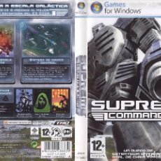 Videojuegos y Consolas: JUEGO PC SUPREME COMMANDER. Lote 92175975