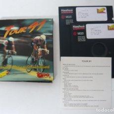 Videojuegos y Consolas: TOUR 91 DE TOPO SOFT / JUEGO PARA IBM PC Y COMPATIBLES / MS-DOS / RETRO / DISQUETE / DISKETTE. Lote 92697415