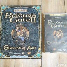 Videojuegos y Consolas: VIDEOJUEGO - BALDUR´S GATE II SHADOWS OF AMN CAJA GRANDE + EXPANSIÓN THRONE OF BAAL - PC. Lote 93362545