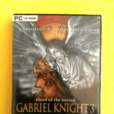 Videojuegos y Consolas: VIDEOJUEGO PRECINTADO GABRIEL KNIGHT 3 (PC CD ROM, 2001). RETROINFORMÁTICA, AVENTURA GRÁFICA, SIERRA. Lote 99502779