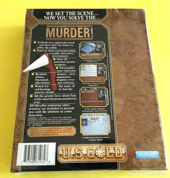 Videojuegos y Consolas: VIDEOJUEGO PRECINTADO MURDER! (PC, 1990). CAJA CARTÓN. - Foto 2 - 93686165