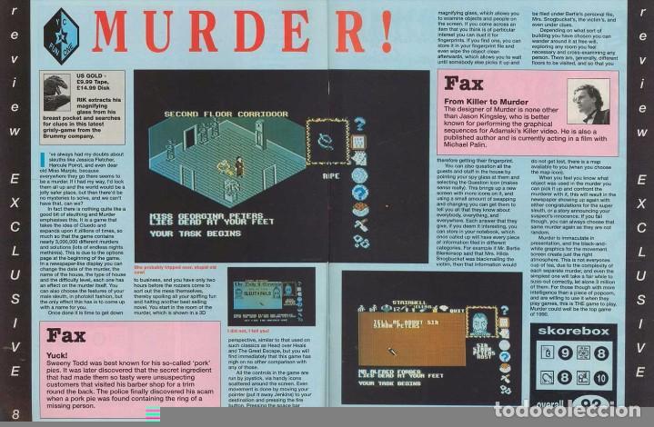 Videojuegos y Consolas: VIDEOJUEGO PRECINTADO MURDER! (PC, 1990). CAJA CARTÓN. - Foto 12 - 93686165