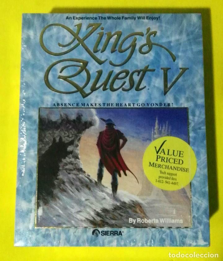 VIDEOJUEGO PRECINTADO PC KING QUEST V (5) SIERRA. PRIMERA EDICIÓN EEUU. TAGS: AMIGA, ATARI, RETRO (Juguetes - Videojuegos y Consolas - PC)