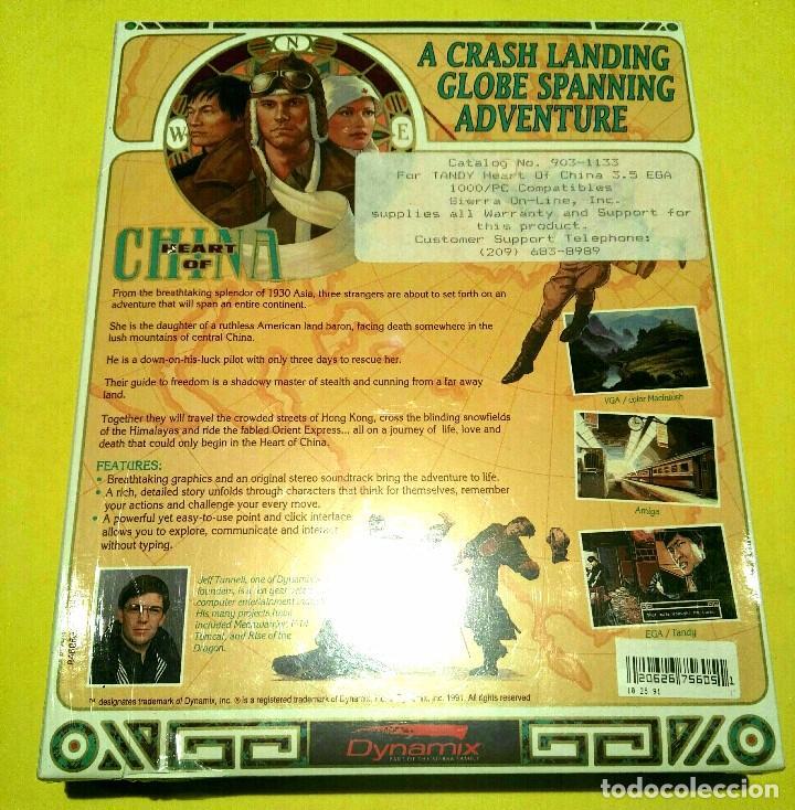 Videojuegos y Consolas: VIDEOJUEGO PC HEART OF CHINA PRECINTADO (1991). PRIMERA EDICIÓN EEUU. RETRO INFORMÁTICA, VINTAGE - Foto 2 - 94467558