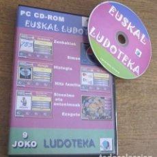 Videojuegos y Consolas: EUSKAL LUDOTEKA JUEGO PC CD VINTAGE SOFTWARE EN EUSKERA AMETSA SOFT S.L. 2006 SIN LIBRO DE INSTRUCC.. Lote 95037739