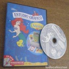 Videojuegos y Consolas: ESTUDIO GRÁFICO LA SIRENITA JUEGO PC CD VINTAGE SOFTWARE DISNEY INTERACTIVE 1998 SIN INSTRUCCIONES. Lote 95043667