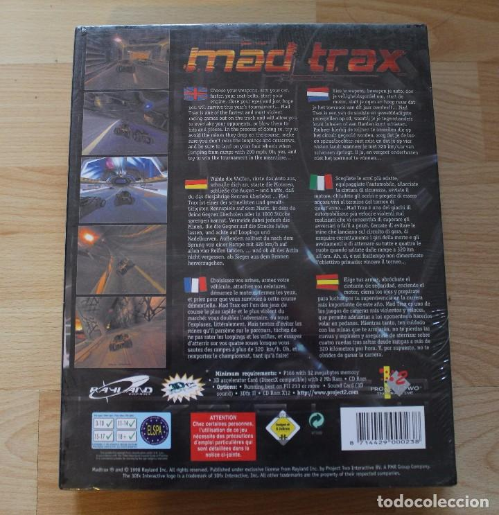 Videojuegos y Consolas: MAD TRAX PC BOX CAJA CARTON PRECINTADO - Foto 2 - 96758435