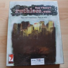 Videojuegos y Consolas: TOM CLANEY'S RUTHLESS.COM PC BOX CAJA CARTON PRECINTADO. Lote 96909875