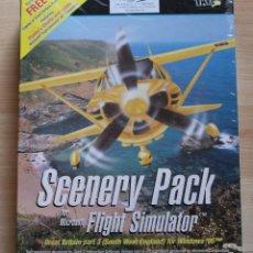 Videojuegos y Consolas: SCENERY PACK SIMULADOR DE VUELO PC BOX CAJA CARTON PRECINTADO. Lote 105754900