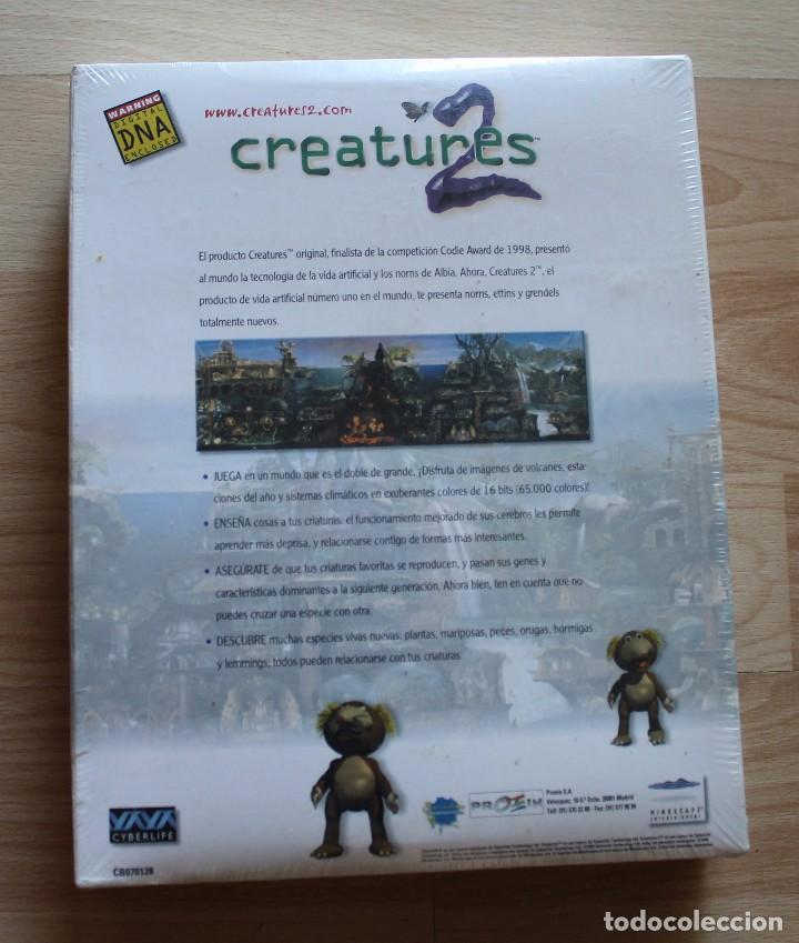 Videojuegos y Consolas: CREATURES 2 PC BOX CAJA CARTON NUEVO PRECINTADO - Foto 2 - 96924843