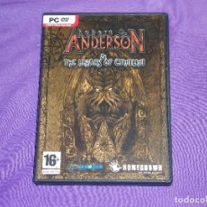 Videojuegos y Consolas: ROBERT D. ANDERSON - THE LEGACY OF CTHULHU - PC -. Lote 97956739