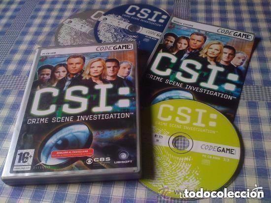 CSI JUEGO PARA PC CD DVD ORDENADOR CODEGAME VERSIÓN ESPAÑOLA EN BUEN ESTADO (Juguetes - Videojuegos y Consolas - PC)