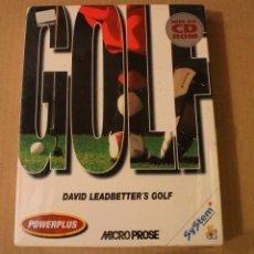 Videojuegos y Consolas: GOLF DAVID LEADBETTER'S GOLF PC BOX CAJA CARTON PRECINTADA. Lote 98652795