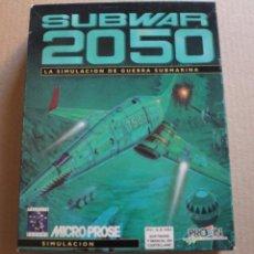 Videojuegos y Consolas: SUBWAR 2050 PC DISKETTES 3 1/2 BOX CAJA CARTON. Lote 98682495