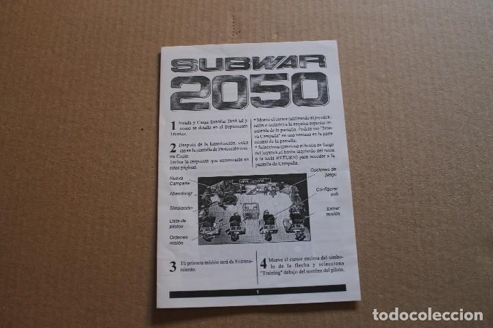 Videojuegos y Consolas: SUBWAR 2050 PC DISKETTES 3 1/2 BOX CAJA CARTON - Foto 9 - 98682495