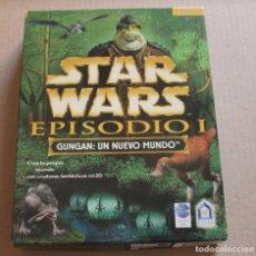 Videojuegos y Consolas: STAR WARS EPISODIO I GUNGAN UN NUEVO MUNDO PC BOX CAJA CARTON. Lote 98692435