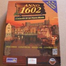Videojuegos y Consolas: ANNO 1602 CREACION DE UN NUEVO MUNDO PC BOX CAJA CARTON. Lote 98696707