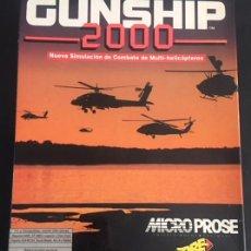 Videojuegos y Consolas: JUEGO DE ORDENADOR GUNSHIP 2000 DE ERBE DISQUETTE 3,5 3 1/2 PC. Lote 101195411