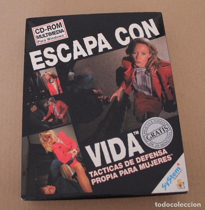 Videojuegos y Consolas: ESCAPA CON VIDA PC BOX CAJA CARTON TACTICAS DE DEFENSA - Foto 1 - 101217623