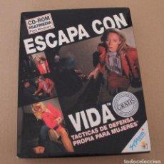 Videojuegos y Consolas: ESCAPA CON VIDA PC BOX CAJA CARTON TACTICAS DE DEFENSA. Lote 101217623