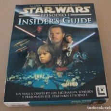 Videojuegos y Consolas: STAR WARS EPISODIO I INSIDER'S GUIDE PC BOX CAJA CARTON. Lote 101228199