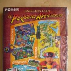 Videojuegos y Consolas: EXPLORA CON EL PEQUEÑO AVENTURERO - ATLAS - CIENCIA - MAQUINA DEL TIEMPO - JUEGOS EDUCATIVOS PARA PC. Lote 103088975