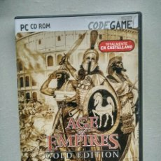 Videojuegos y Consolas: JUEGO PC CD ROM AGE OF EMPIRES GOLD EDITION CASTELLANO. Lote 103235387