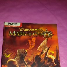 Videojuegos y Consolas: JUEGO PARA PC PC DVD WARHAMMER MARK OF CHAOS COMO NUEVO. Lote 103439519
