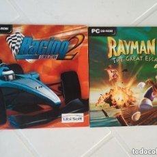 Videojuegos y Consolas: LOTE DE 2 JUEGOS DE PC RACING 2 SIMULATION Y RAYMAN 2 SON DEL AÑO 1999 Y 2002. NUEVOS. ENVIO GRATIS. Lote 103845719