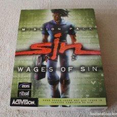 Videojuegos y Consolas: SIN WAGES OF SIN PC BOX CAJA CARTON. Lote 103874595