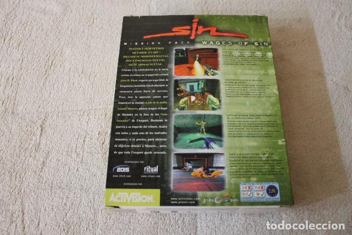 Videojuegos y Consolas: SIN WAGES OF SIN PC BOX CAJA CARTON - Foto 3 - 103874595