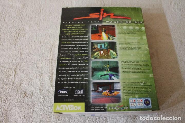 Videojuegos y Consolas: SIN WAGES OF SIN PC BOX CAJA CARTON - Foto 6 - 103874595