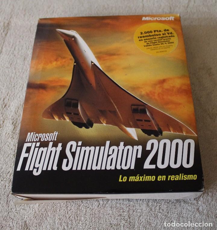 FLIGHT SIMULATOR 2000 PC BOX CAJA CARTON (Juguetes - Videojuegos y Consolas - PC)
