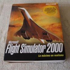 Videojuegos y Consolas: FLIGHT SIMULATOR 2000 PC BOX CAJA CARTON. Lote 103879447