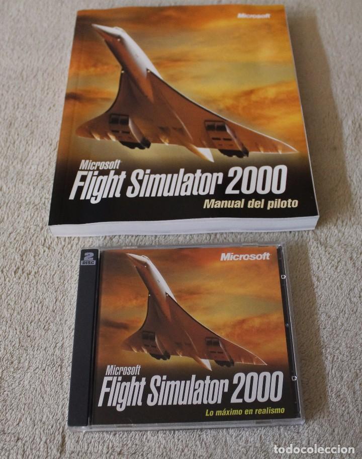 Videojuegos y Consolas: FLIGHT SIMULATOR 2000 PC BOX CAJA CARTON - Foto 2 - 103879447