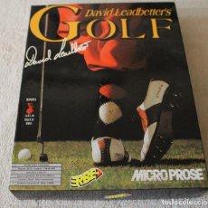 Videojuegos y Consolas: DAVID LEADBETTER'S GOLF JUEGO PC BOX CAJA CARTON DISKETTES. Lote 103881239